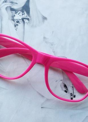 Имиджевые очки квадрат wf малиновый