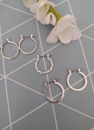 Сережки кільця, серьги кольца от asos