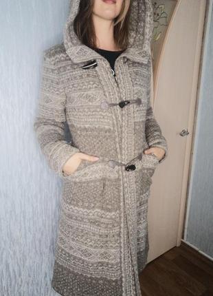 Вязаное пальто zara