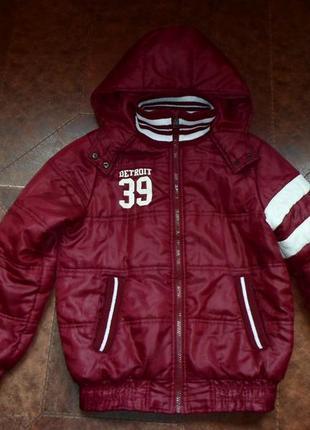 Мягкая тепленькая куртка trn boy, 10-12 лет