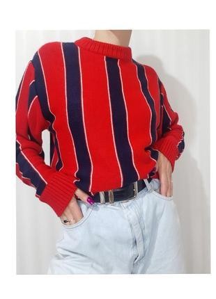 Крутой свитер от tommy hilfiger с горлом в стиле колор блок