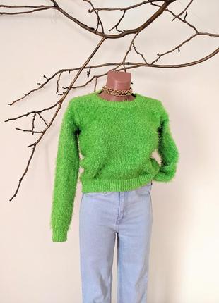 Свитер салатовый vero moda зелёный короткий теплый тёплый