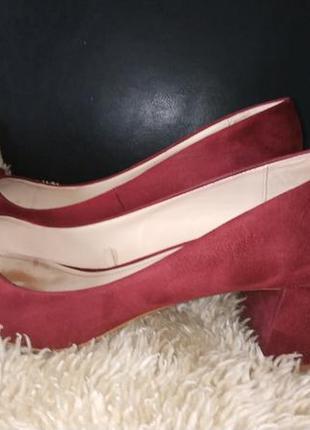 Zara туфлі текстиль бордо