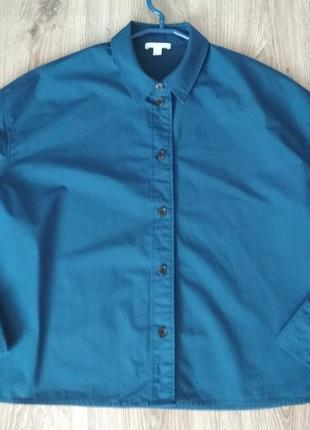 Стильная рубашка оверсайз, 100% хлопок(коттон)