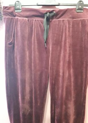 Бархатные штанишки винного цвета