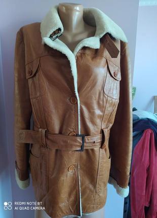 Куртка женская кожа натуральний мех,l
