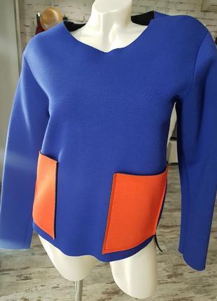 Новая кофта (свитшот, пуловер, лонгслив) из неопрена итальянского бренда souvenir