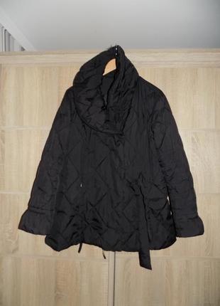 Деми куртка зефирка черная