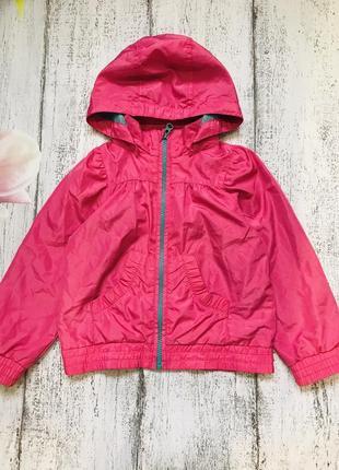 Крутая куртка ветровка с капюшоном h&m 3-4года