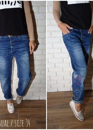 Крутейшие джинсы с вышивкой desigual
