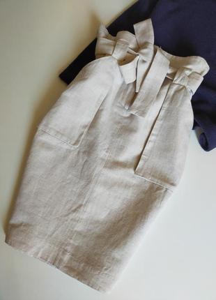 Юбка миди с накладными карманами h&m размер с