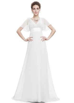 Нарядное, вечернее, свадебное  платье в пол, ever pretty