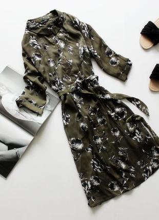 Красивое платье рубашка хаки хл 14