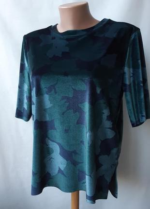 Велюровая блуза топ кофточка distrikt norrebro, размер 36/38