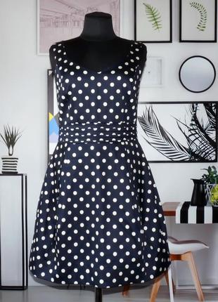 Платье мини коттоновое в горошек new look