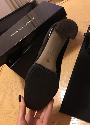 Туфлі лакові giorgio armani