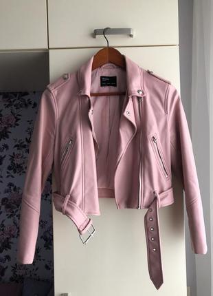 Короткая розовая косуха