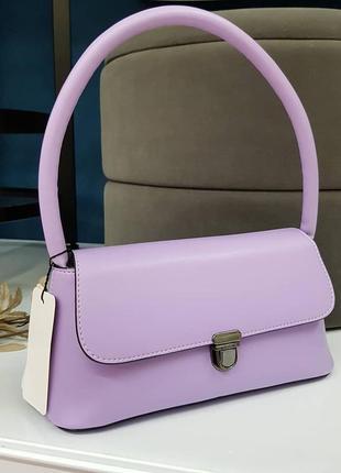 Сиреневая сумка багет