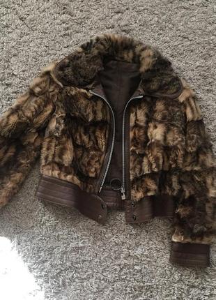 Куртка с мехом меховая курточка
