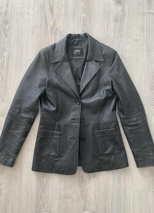 Куртка пиджак кожаный жакет