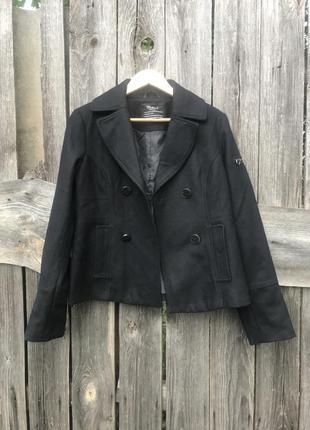 Шерстяной жакет пиджак короткое пальто