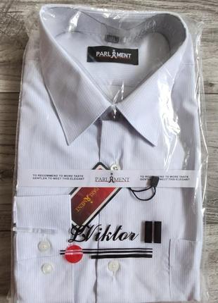 Мужская классическая рубашка louis viktor с длинным рукавом.