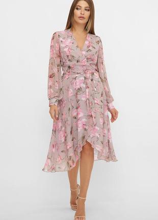 Принтованное платье