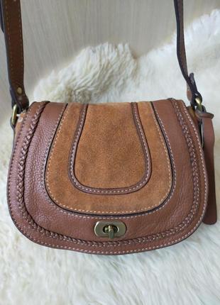 Кожаная сумка на плечо clarks