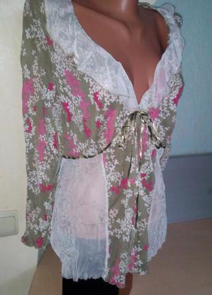 Легкая блузка- разлетайка в стиле бохо