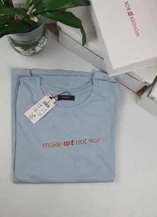 100% хлопок базовая футболка с надписью, reserved