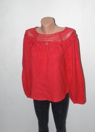 Красная котоновая блузочка falcon