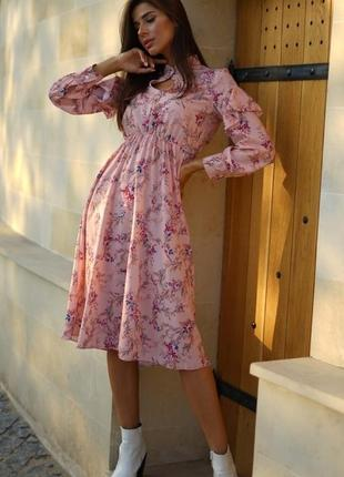 Ніжне плаття на довгий рукав