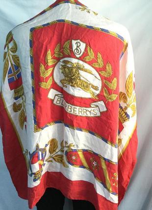 Шелковый платок burberrys, винтаж, роуль