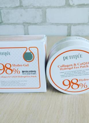 Гидрогелевые патчи для глаз с коллагеном и коэнзимом petitfee collagen & coq10 hydrogel
