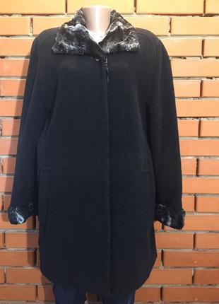 Пальто, удлиненная куртка roberto drighi 54 р. батал. кашемир и шерсть.