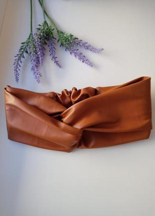 Кожаная чалма повязка тюрбан из эко кожи