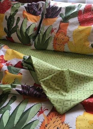 Постельное белье, постельное белье кактусы, постельное бязь
