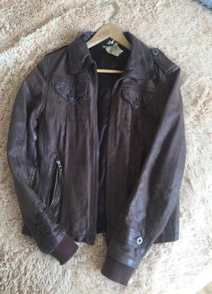 Фирменная кожаная куртка