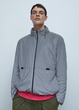 Куртка zara man из светоотражающего материала !