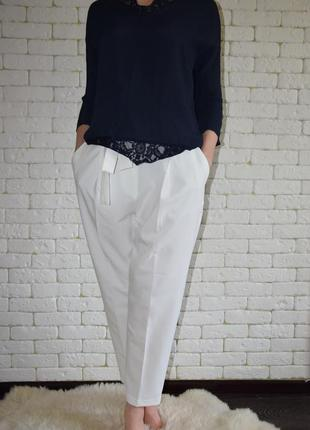 Укороченные брюки с завышенной талией new look