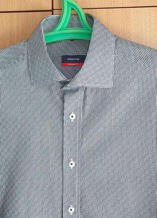 Фирменная рубашка eterna /modern fit/germany/3d принт/cotton-100%. унисекс.