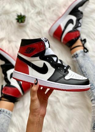 Женские шикарные кроссовки 🔥 nike air jordan 1 retro red black