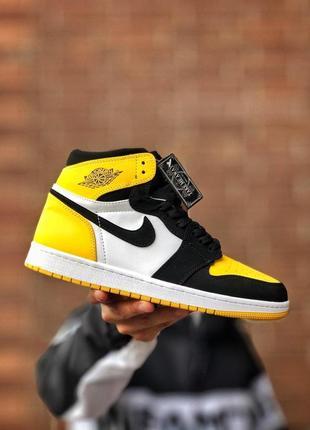 Женские шикарные кроссовки 🔥 nike air jordan yellow x white