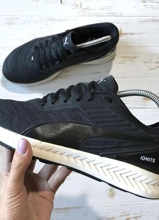Чёрные кроссовки puma ignite