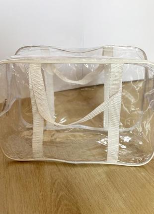 Маленькая сумка в роддом прозрачная