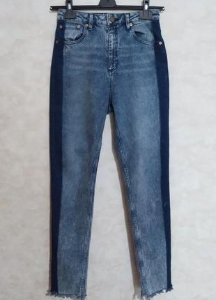Актуальные джинсы мом с лампасами, высокая посадка, 28 р, asos