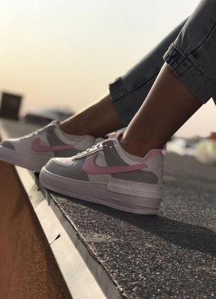 Nike air force shadow white 1 low шикарные женские кроссовки найк еир форс