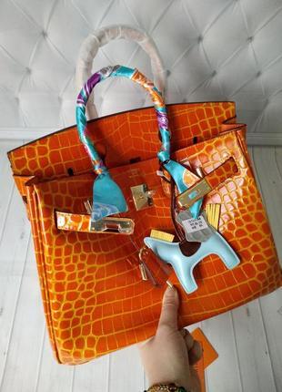 Женская кожаная сумка в стиле hermes birkin💫