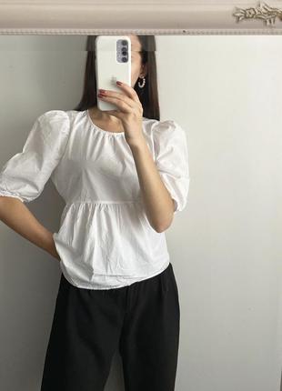 Блуза с объёмными рукавами primark