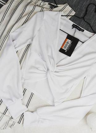 Новая блуза кофточка с перехлестом prettylittlething